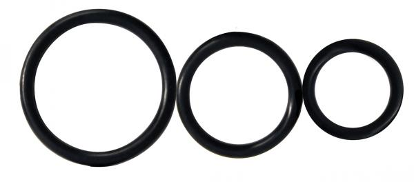 Rooster Control Rings Black Set Of 3