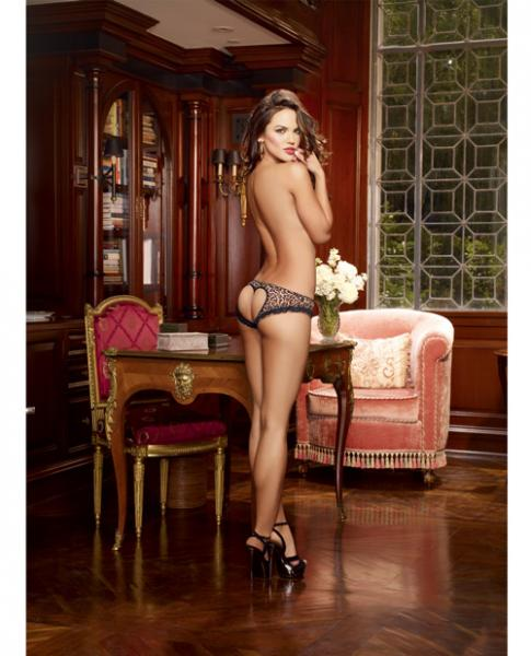 Leopard Print Open Heart Back Cheeky Panty Md