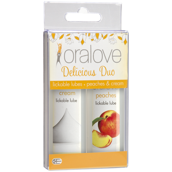 Oralove Delicious Duo Flavored Lube Peaches & Cream