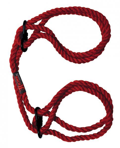 Kink Hogtied Bind & Tie Hemp Wrist Or Ankle Cuffs Hemp Red