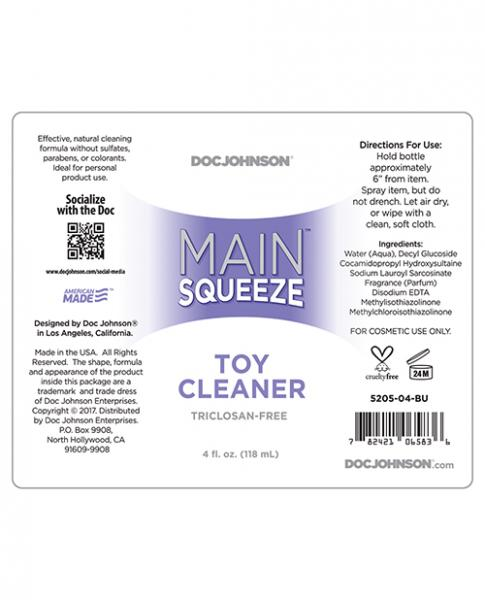 Main Squeeze Toy Cleaner 4 fluid ounces