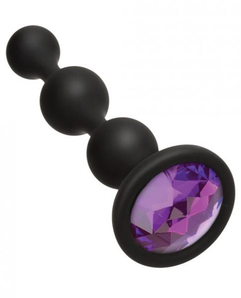 Booty Bling Jeweled Wearable Anal Beads Purple