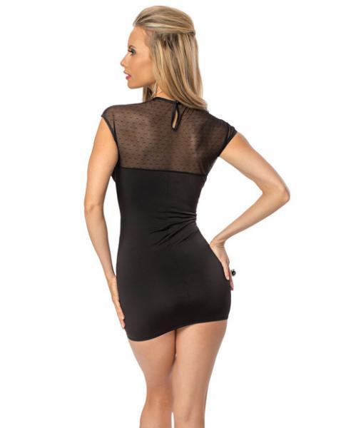 Dotted Mesh Dress Black O/S