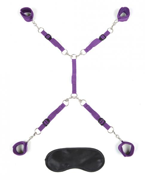 Lux Fetish Bed Spreader Purple