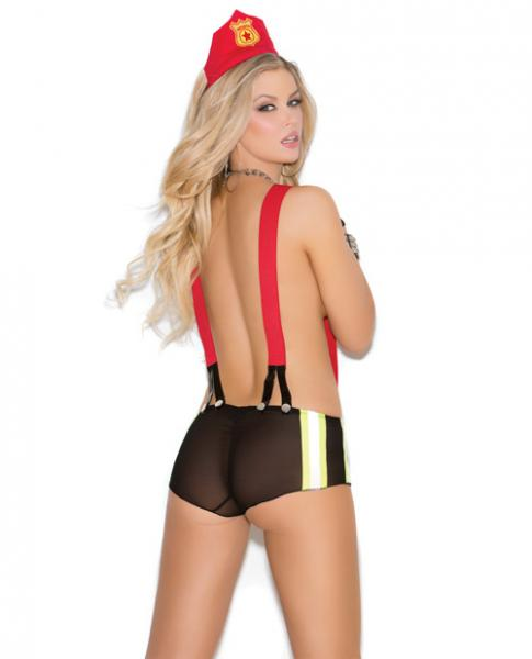 Vivace Put Out My Fire Booty Shorts & Head Piece Black O/S