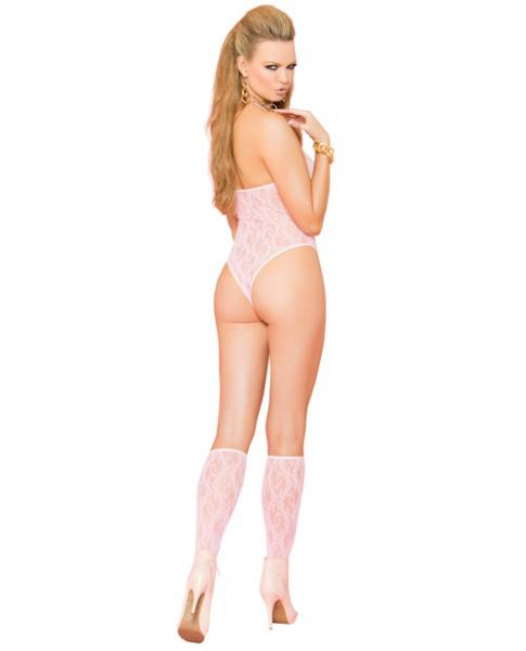 Vivace Lace Teddy & Stockings Baby Pink O/S