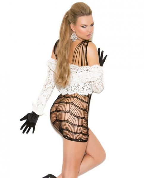 Vivace Vertical Striped Mini Dress Black O/S
