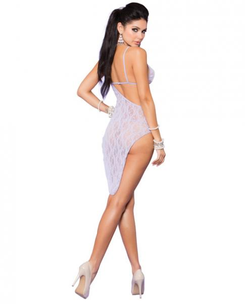 Vivace Lace Asymmetrical Gown & G-String Lilac O/S