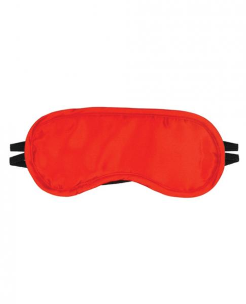 Satin Blindfold 2 Straps O/S Red