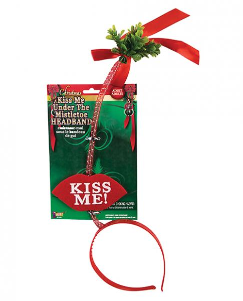 Kiss Me Under The Mistletoe Headband Red