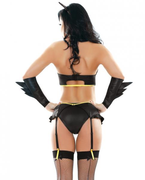 Play 5 Piece Badgirl Costume Black M/L
