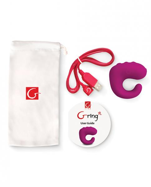 G Ring XL Sweet Raspberry Purple Vibrator