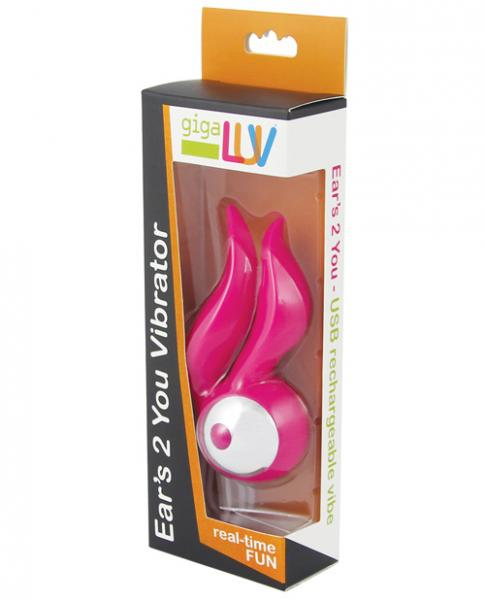 Gigaluv Ears 2 You Pink Clitoral Vibrator