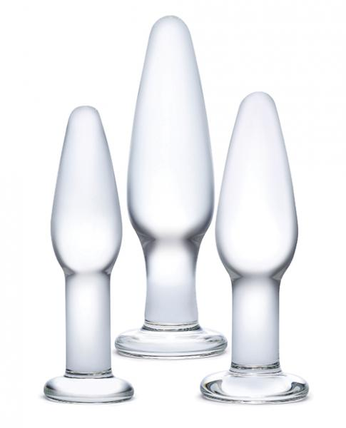 Glas 3 Piece Glass Anal Training Kit Clear