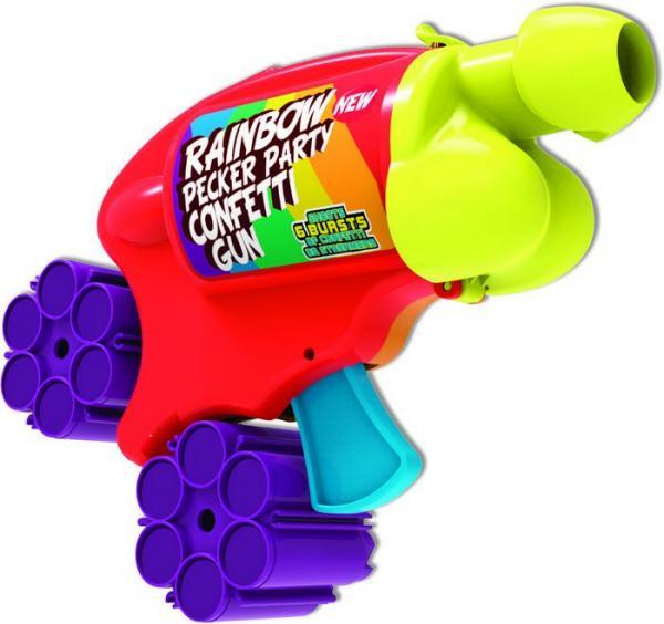 Rainbow Pecker Party Confetti Gun