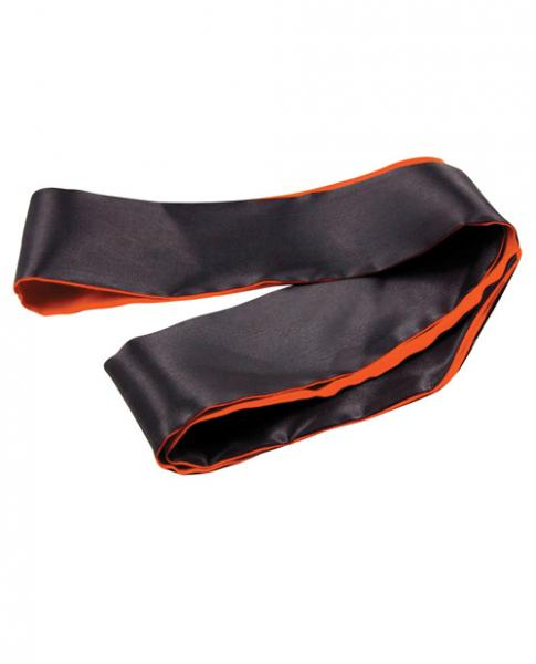 Orange Is The New Black Satin Sash Reversible Blindfold Black Orange