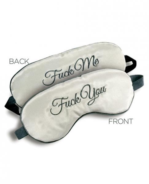 F*ck Me F*ck You Mask Reversible Blindfold O/S