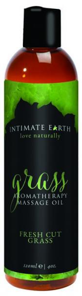 Intimate Earth Grass Massage Oil 4 fluid ounces
