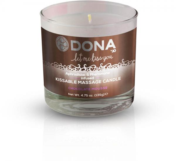Dona Kissable Massage Candle Chocolate Mousse 4.75oz