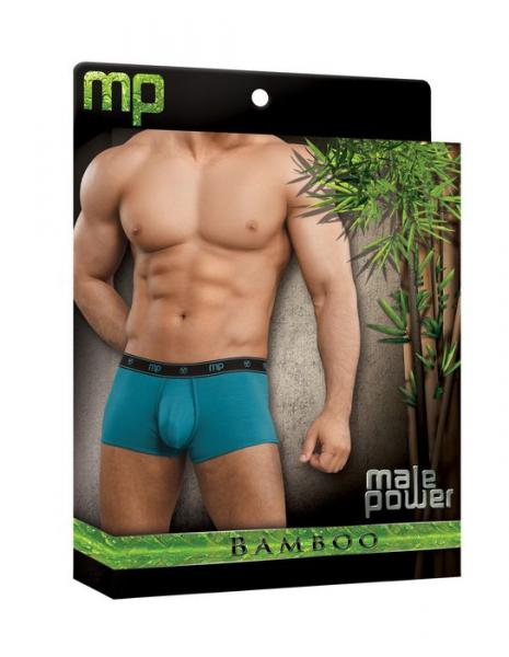 Bamboo low rise pouch enhancer short teal sm