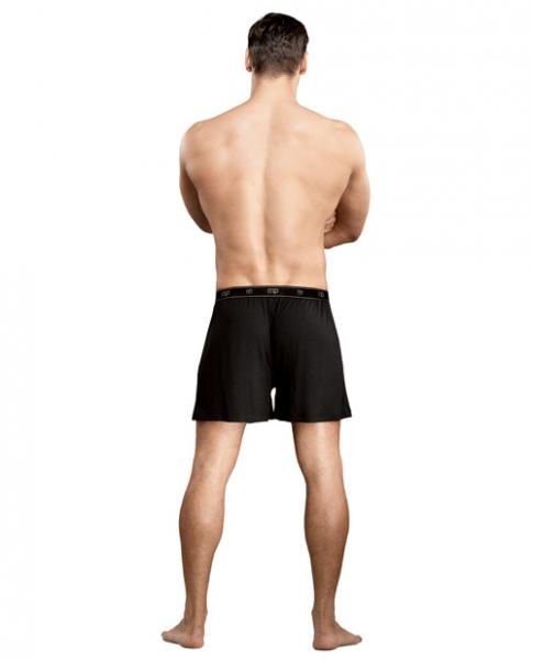 Bamboo Boxer Short Black Large