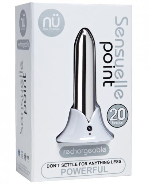 Sensuelle Point Rechargeable Bullet - Silver