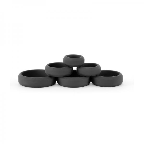 Renegade Build A Cage Rings Black Set Of 6
