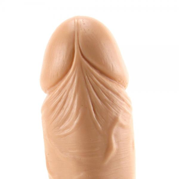 """9"""" Big Boy Dong Balls W/Suction Cup - Beige"""