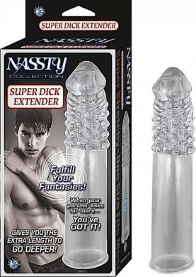 Nassty Super Dick Extender Clear Penis Extension
