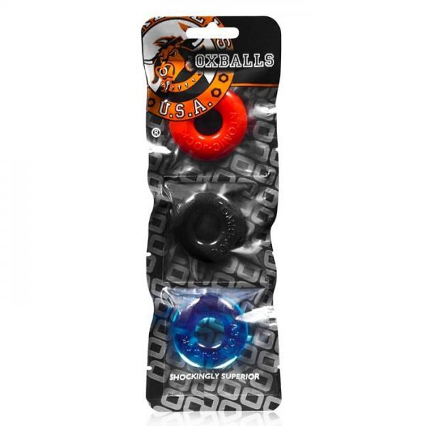 Oxballs Ringer Donut 1 Multi Colored Pack Of 3