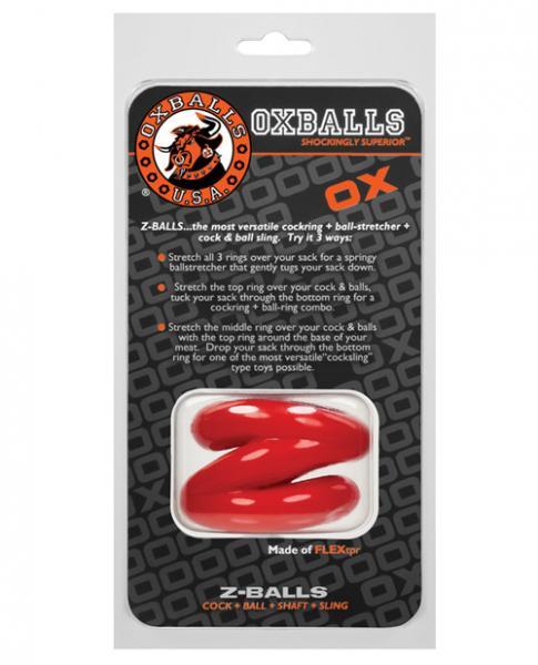 Oxballs Z-Balls Ball Stretcher Red