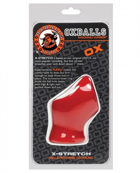 Oxballs Atomic Jock Unit X-Stretch Cock Sling Red
