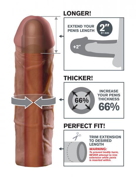 Mega 2 Inch Extension - Brown