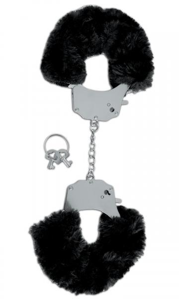 Limited edition fetish fantasy furry handcuffs - black