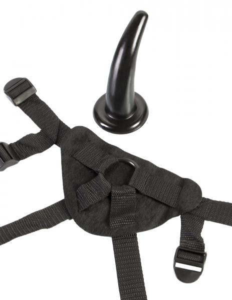 Limited edition fetish fantasy the pegger w/straps - black