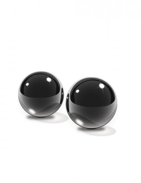 Black Glass Ben Wa Balls Medium