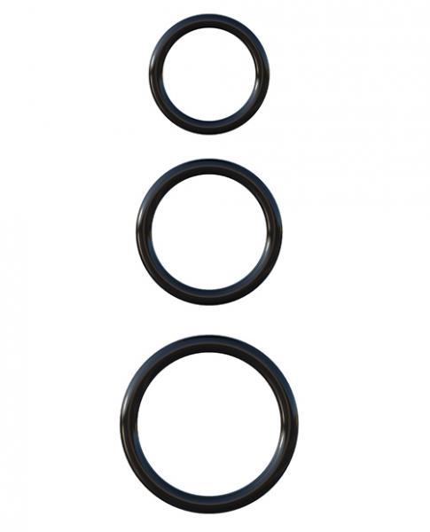 Fantasy C-Ringz Silicone 3 Ring Stamina Set Black
