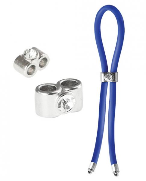 Bolo Silicone Lasso & Double Barrel Diamond Slider Blue