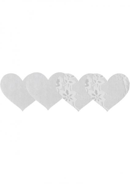 Luminous Hearts Pasties White 2 Pack