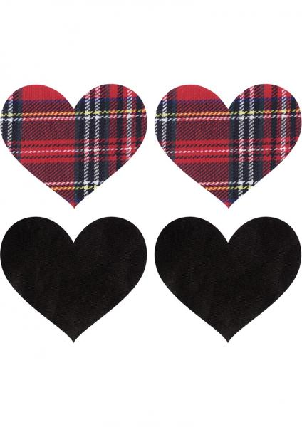 Peekaboos Schoolgirl Hearts Pasties O/S