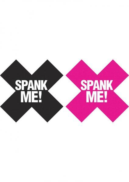 Spank Me X Pasties 2 Pairs 1 Black/1 Pink