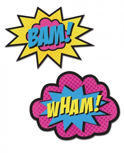 Peekaboos Wham Bam Superhero Pasties 2 Pairs
