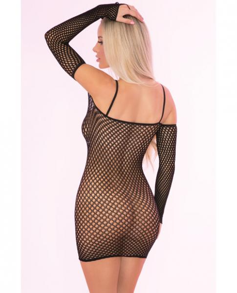 Bad Intentions Fishnet Dress Black O/S