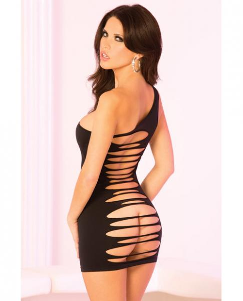 One Should Slash Back Dress Black S/M