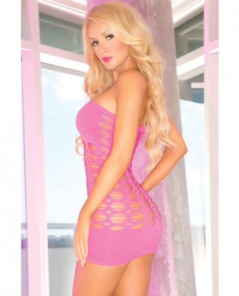 Pink Lipstick Middle Seamless Dress Pink O/S