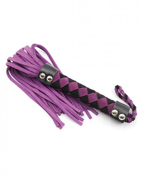 Plesur 15 inches Leather Flogger Purple