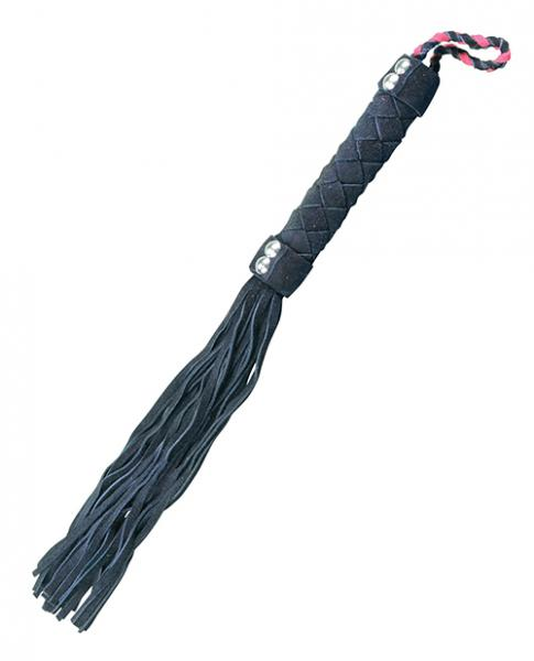 Plesur 15 inches Leather Flogger Black