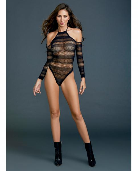 Seamless Bodysuit Black O/S