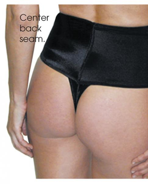 Rago Shapewear Wide Band Thong Shaper Black Lg