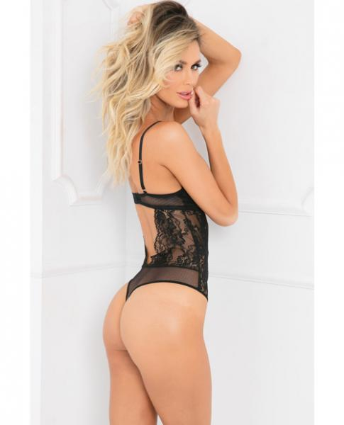 Rene Rofe All Eyes On Me Bodysuit Black M/L